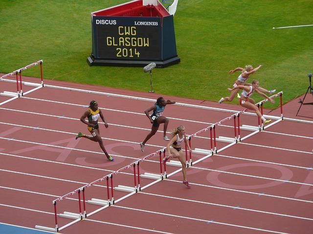 hurdles at commonwealth games