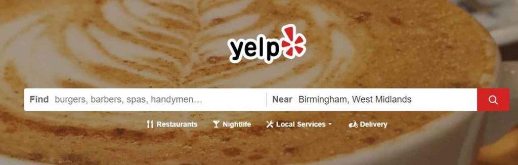 yelp search bar