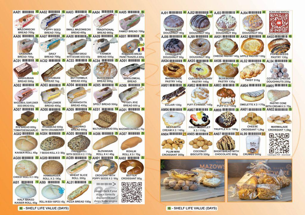 masovia bakery menu