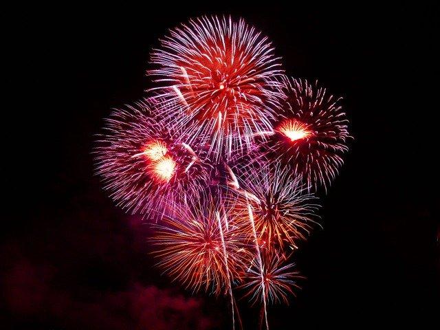 fireworks in walsall sky